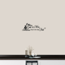 "I Cook With Wine Wall Decal 24"" wide x 8"" tall Sample Image"