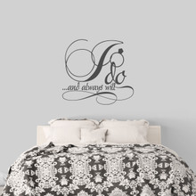 "I Do And Always Will Wall Decal 36"" wide x 33"" tall Sample Image"