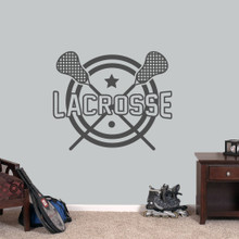 """Lacrosse Wall Decals 36"""" wide x 30"""" tall Sample Image"""
