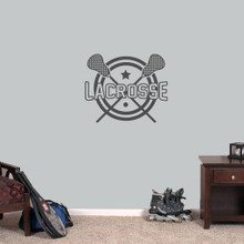 """Lacrosse Wall Decals 24"""" wide x 20"""" tall Sample Image"""