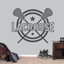 """Lacrosse Wall Decals 48"""" wide x 40"""" tall Sample Image"""