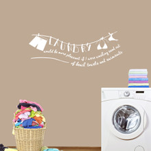 """Laundry Sand Out Of Swimsuits Wall Decals 48"""" wide x 18"""" tall Sample Image"""