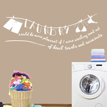 """Laundry Sand Out Of Swimsuits Wall Decals 72"""" wide x 26"""" tall Sample Image"""