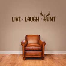 "Live Laugh Hunt Wall Decals 48"" wide x 12"" tall Sample Image"