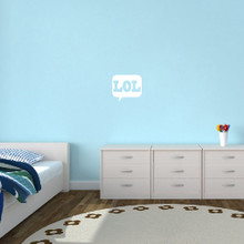 "LOL Wall Decals 12"" wide x 11"" tall Sample Image"