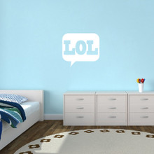 "LOL Wall Decals 24"" wide x 22"" tall Sample Image"