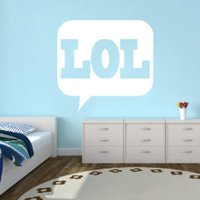 "LOL Wall Decals 48"" wide x 46"" tall Sample Image"