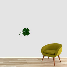 "Four Leaf Clover Wall Decals 12"" wide x 9"" tall Sample Image"