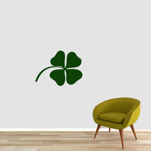 "Four Leaf Clover Wall Decals 24"" wide x 18"" tall Sample Image"