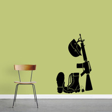 """Military Gear Wall Decal 22"""" wide x 36"""" tall Sample Image"""