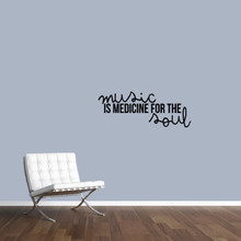 """Music Is Medicine For The Soul Wall Decal 36"""" wide x 14"""" tall Sample Image"""