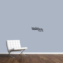 """Music Is Medicine For The Soul Wall Decal 18"""" wide x 7"""" tall Sample Image"""