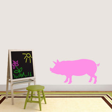 """Pig Silhouette Wall Decal 36"""" wide x 18"""" tall Sample Image"""