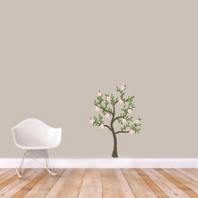 "Pink Flower Tree Printed Wall Decals 26"" wide x 36"" tall Sample Image"