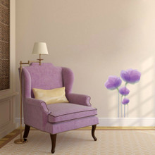 "Purple Flowers Printed Wall Decals 18"" wide x 24"" tall Sample Image"