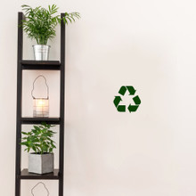 "Recycle Symbol Decal Wall 6"" wide x 6"" tall Sample Image"