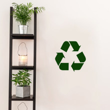 "Recycle Symbol Decal Wall 12"" wide x 12"" tall Sample Image"