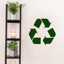 "Recycle Symbol Decal Wall 18"" wide x 18"" tall Sample Image"