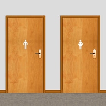 Men's and Women's Restroom Wall Decals Small Sample Image