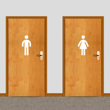 Men's and Women's Restroom Wall Decals Medium Sample Image