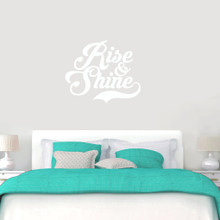 """Rise And Shine Wall Decals 36"""" wide x 30"""" tall Sample Image"""