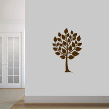 "Round Tree Wall Decal 24"" wide x 36"" tall Sample Image"