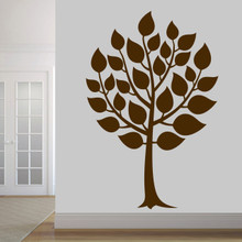 "Round Tree Wall Decal 48"" wide x 72"" tall Sample Image"