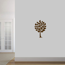 "Round Tree Wall Decal 16"" wide x 24"" tall Sample Image"