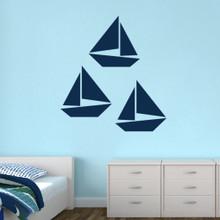 Sailboats Wall Decals Large Sample Image