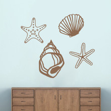 Seashells Wall Decals Large Sample Image