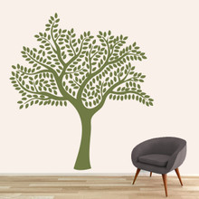 "Shade Tree Wall Decal 66"" wide x 72"" tall Sample Image"