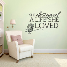 "A Life She Loved Wall Decals 48"" wide x 30"" tall Sample Image"