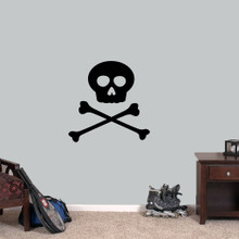 """Skull and Crossbones Wall Decals 24"""" wide x 24"""" tall Sample Image"""