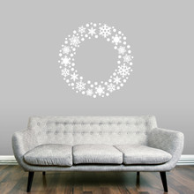 "Snowflake Wreath Wall Decal 36"" wide x 36"" tall Sample Image"