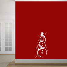 "Cute Snowman Wall Decal 17"" wide x 36"" tall Sample Image"