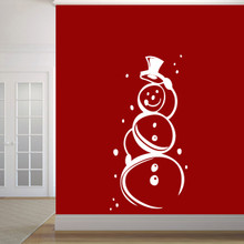 "Cute Snowman Wall Decal 30"" wide x 60"" tall Sample Image"