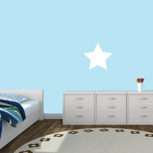 """Dry Erase Star Wall Decals 12"""" wide x 11"""" tall Sample Image"""