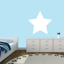 """Dry Erase Star Wall Decals 24"""" wide x 23"""" tall Sample Image"""