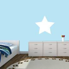 """Dry Erase Star Wall Decals 18"""" wide x 17"""" tall Sample Image"""