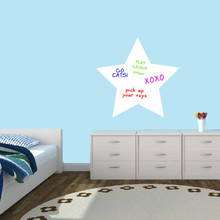"""Dry Erase Star Wall Decals 24"""" wide x 23"""" tall Sample Image (writing not included)"""