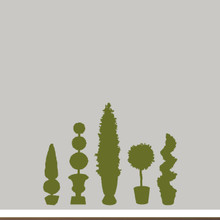 Topiaries Wall Decals Large Sample Image