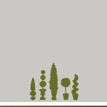 Topiaries Wall Decals Medium Sample Image
