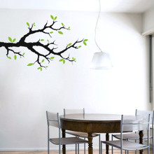 Tree Branch With Leaves Wall Decals and Stickers