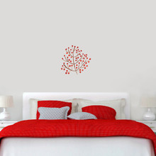 "Red Berry Branch Printed Wall Decals 18"" wide x 18"" tall Sample Image"