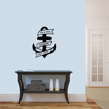 "Custom Anchor Wall Decal 18"" wide x 24"" tall Sample Image"