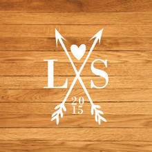 Custom Crossed Arrows With Initials Wall Decals and Stickers