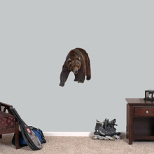 """Real Life Grizzly Bear Printed Wall Decals 18"""" wide x 22"""" tall Sample Image"""