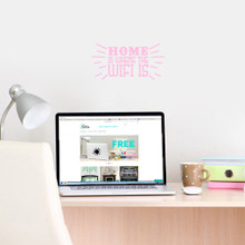 """Home Is Where The Wifi Is Wall Decals 12"""" wide x 6"""" tall Sample Image"""