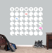 "Dry Erase Circle Calendar Wall Decals 36"" wide x 31"" tall Sample Image"