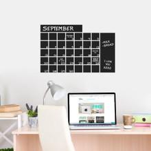 "Chalkboard Calendar Wide Wall Decals 24"" wide x 16"" tall Sample Image"